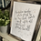Thumbnail: Slanted layout Lyrical Quote Wall Art - Custom A5 or A4