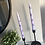Thumbnail: Pair of Hand Painted Floral Tapered Dinner Candles