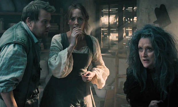 "James Corden, Emily Blunt, and Meryl Streep in ""Into the Woods"""