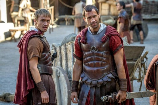 "Tom Felton and Joseph Fiennes in ""Risen"""
