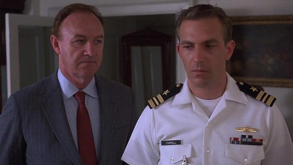 "Gene Hackman and Kevin Costner in ""No Way Out"""