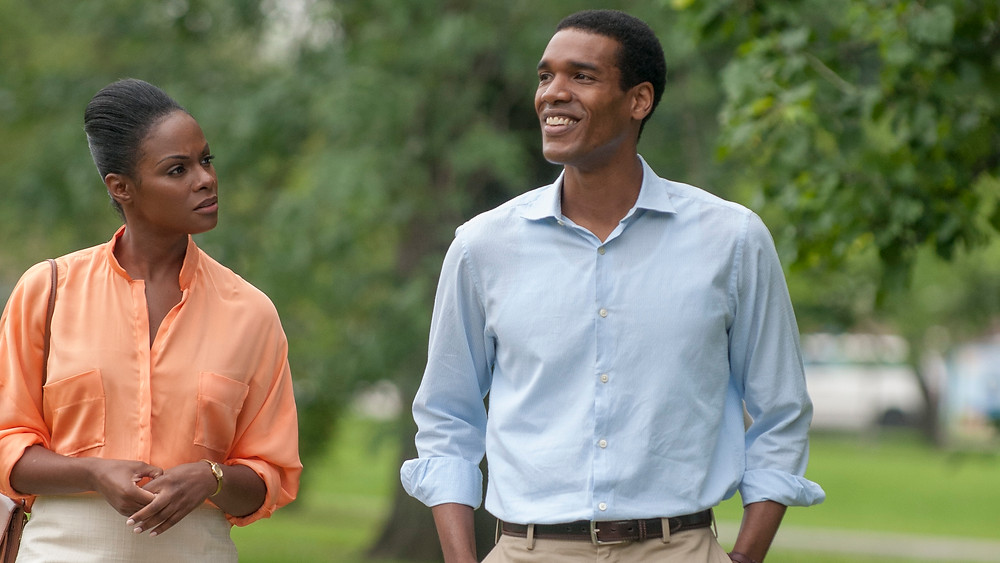 """Michelle (Tika Sumpter) and Barack (Parker Sawyers) in """"Southside with You"""""""