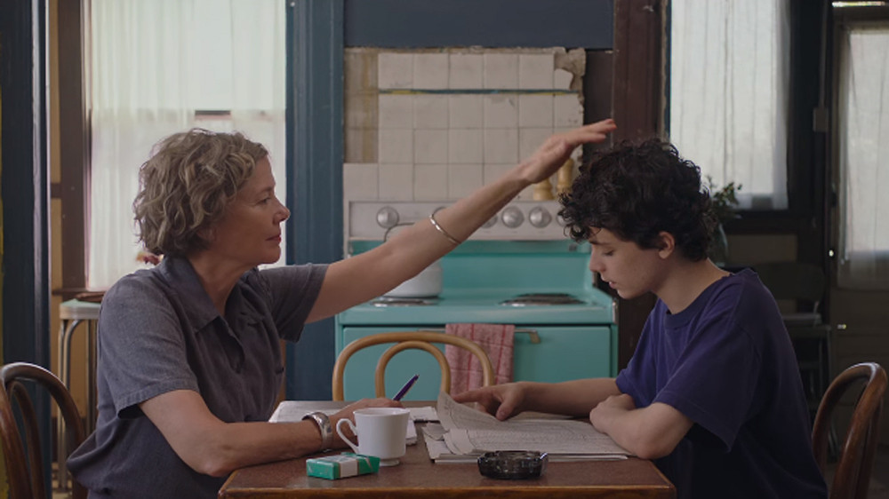 "Annette Bening and Lucas Jade Zumann in ""20th Century Women"""