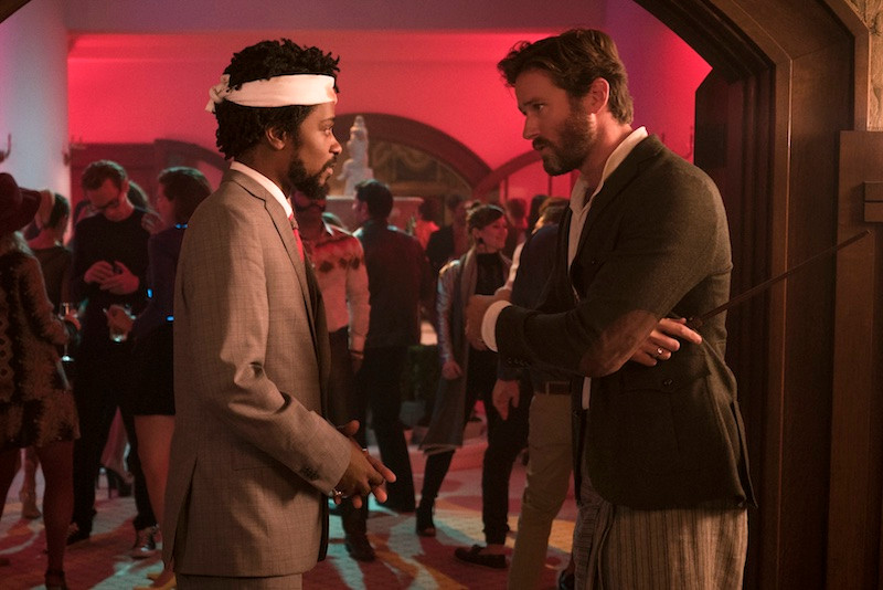 "Lakeith Stanfield and Armie Hammer in ""Sorry to Bother You"""