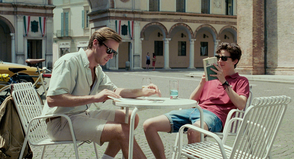 "Armie Hammer and Timothee Chalamet in ""Call Me By Your Name"""