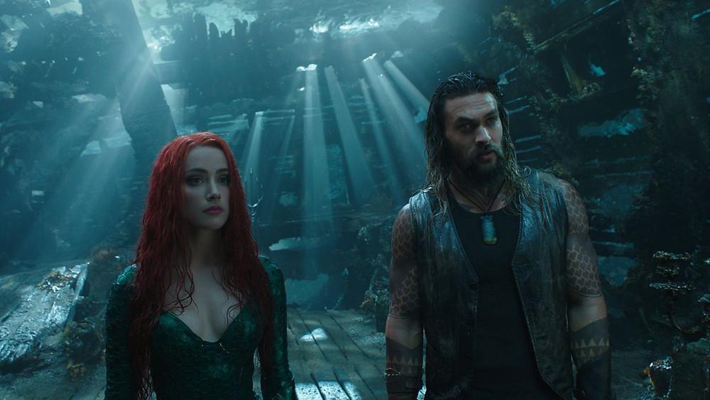 "Amber Heard and Jason Momoa in ""Aquaman"""