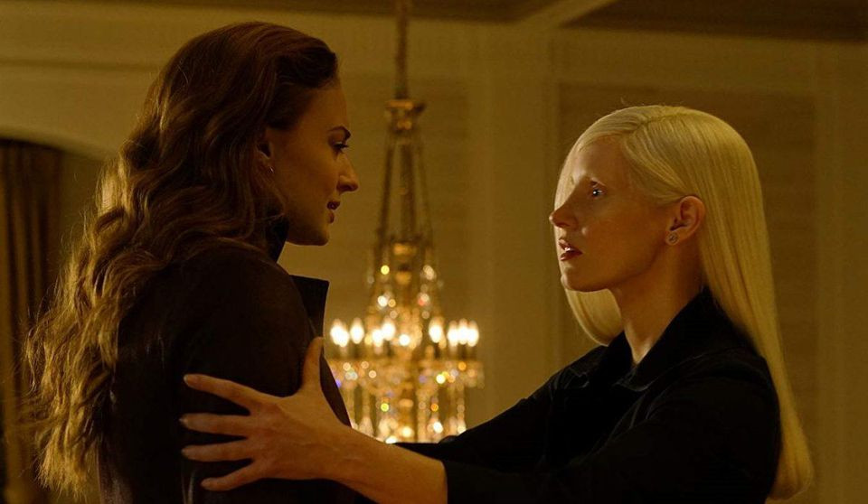"Sophie Turner and Jessica Chastain in ""Dark Phoenix"""