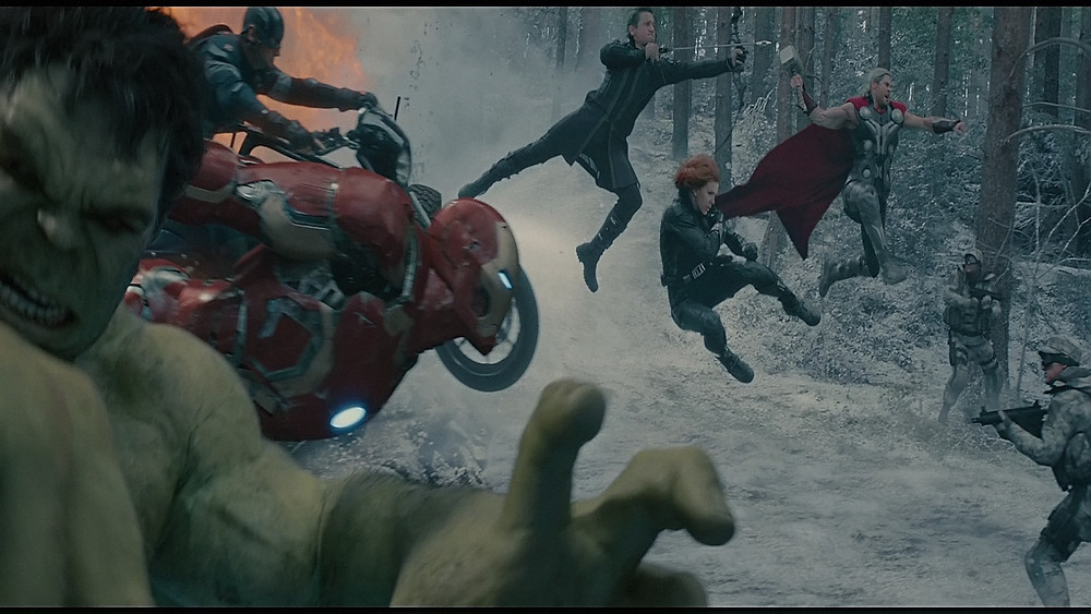 "The Avengers leap into action in ""Avengers: Age of Ultron'"