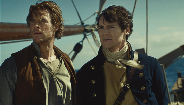 "Chris Hemsworth and Benjamin Walker in ""In the Heart of the Sea"""