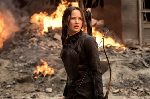 "Jennifer Lawrence in ""The Hunger Games: Mockingjay - Part 1"""