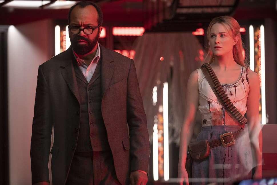 "Jeffrey Wright and Evan Rachel Wood in ""Westworld: Season Two"""