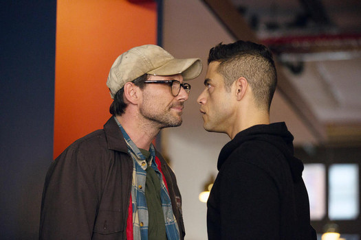 "Christian Slater and Rami Malek in ""Mr. Robot"""