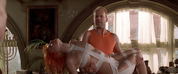 """Milla Jovovich and Bruce Willis in """"The Fifth Element"""""""