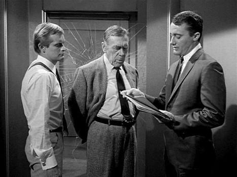 "David McCallum, Leo G. Carroll, and Robert Vaughn in ""The Man from U.N.C.L.E."""