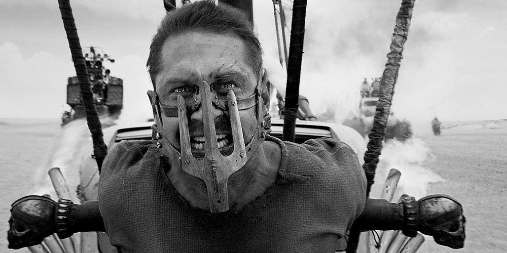 """Tom Hardy in """"Mad Max: Fury Road (Black & Chrome Edition)"""""""