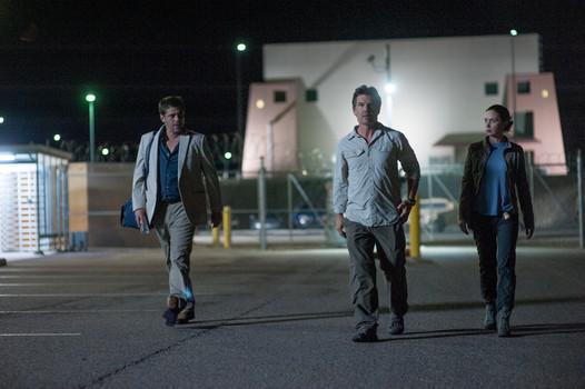 """Benicio Del Toro, Josh Brolin, and Emily Blunt in """"Sicario"""""""