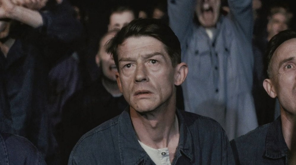 "Sir John Hurt in ""1984"""