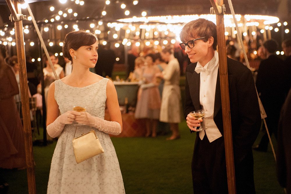"Felicity Jones and Eddie Redmayne in ""The Theory of Everything"""