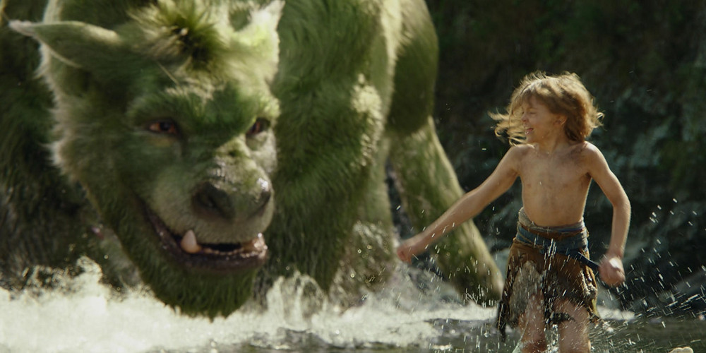 """Elliot and Pete (Oakes Fegley) in """"Pete's Dragon"""""""