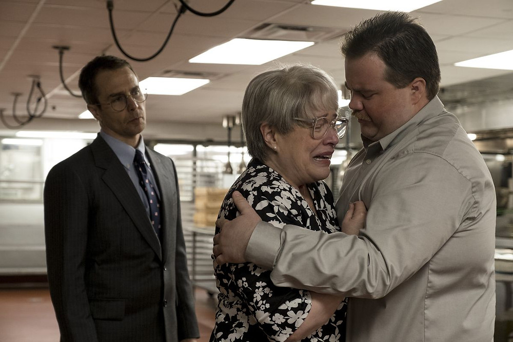 "Sam Rockwell, Kathy Bates, and Paul Walter Hauser in ""Richard Jewell"""