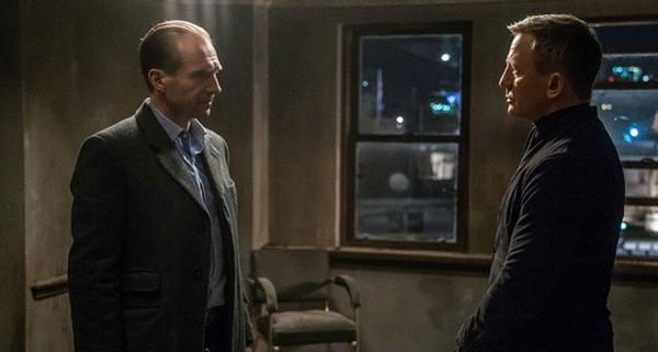 "Ralph Fiennes and Daniel Craig in ""Spectre"""