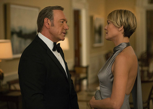 "Kevin Spacey and Robin Wright in ""House of Cards"""