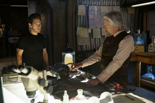 "Paul Rudd and Michael Douglas in ""Ant-Man"""