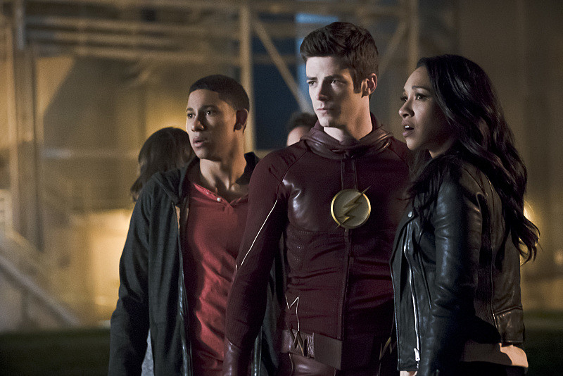 "Keiynan Lonsdale, Grant Gustin, and Candice Patton in ""The Flash"""