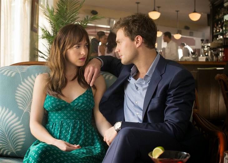 "Dakota Johnson and Jamie Dornan in ""Fifty Shades of Grey"""
