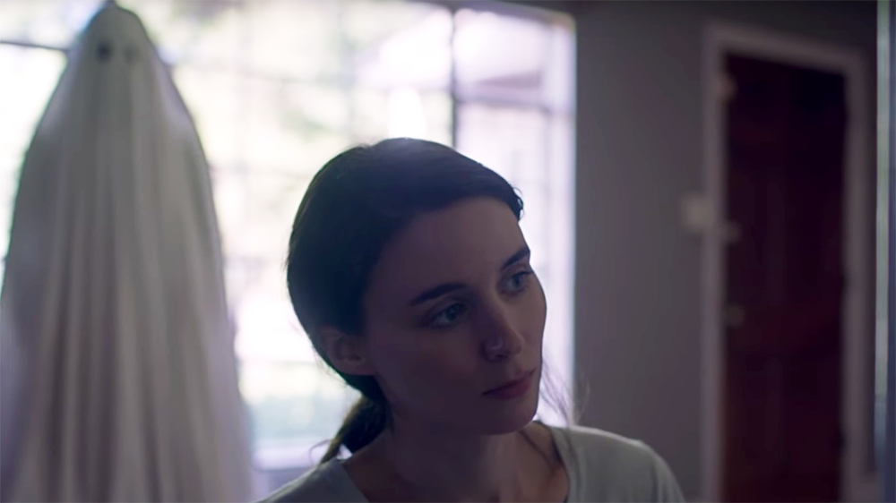 "Casey Affleck and Rooney Mara in ""A Ghost Story"""