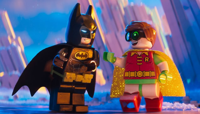 "Batman (Voice of Will Arnett) and Robin (Voice of Michael Cera) in ""The LEGO Batman Movie"""