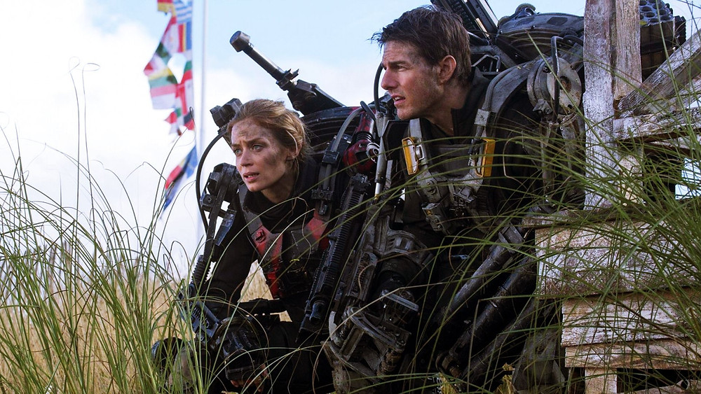 "Emily Blunt and Tom Cruise in ""Edge of Tomorrow"""