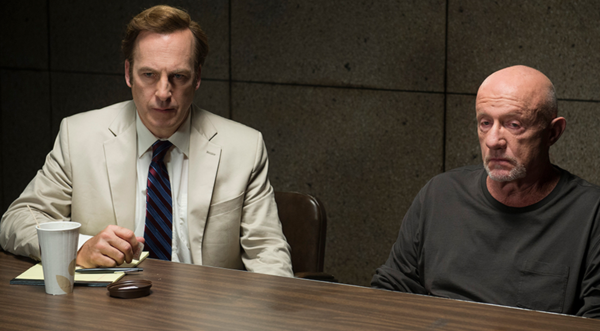 "Bob Odenkirk and Jonathan Banks in ""Better Call Saul"""