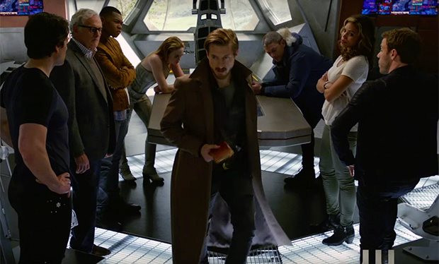 "Captain Rip Hunter (Arthur Darvill) and his crew in ""DC's Legends of Tomorrow"""