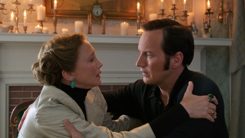 "Vera Farmiga and Patrick Wilson in ""The Conjuring 2"""