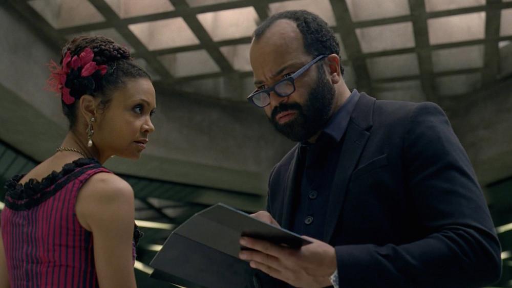 "Thandie Newton and Jeffrey Wright in ""Westworld: Season One"""