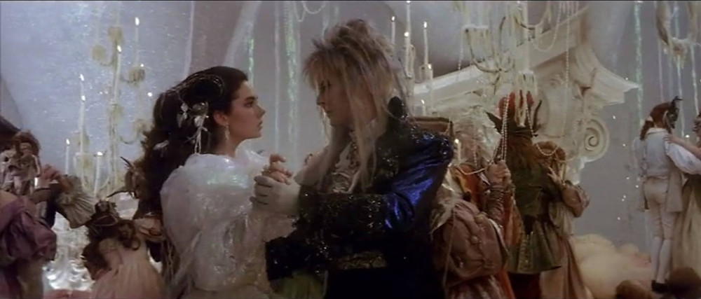 "Jennifer Connelly and David Bowie in ""Labyrinth"""