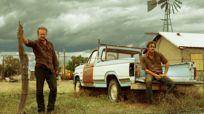 "Ben Foster and Chris Pine in ""Hell or High Water"""