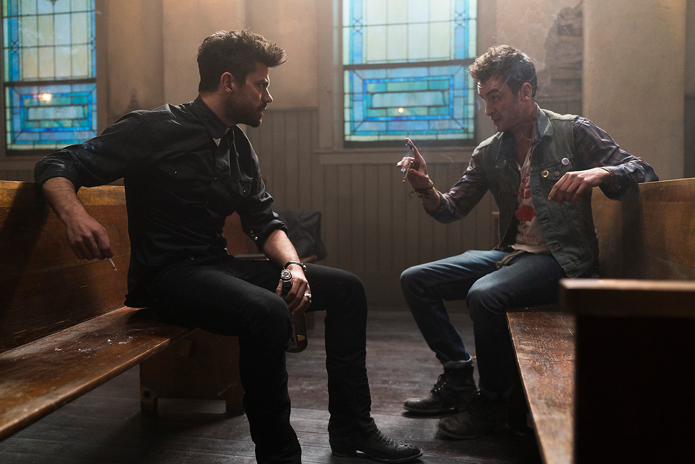 "Dominic Cooper and Joseph Gilgun in ""Preacher"""