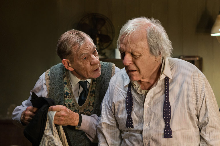 "Sir Ian McKellen and Sir Anthony Hopkins in ""The Dresser"""
