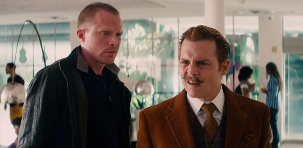 """Paul Bettany and Johnny Depp in """"Mortdecai"""""""