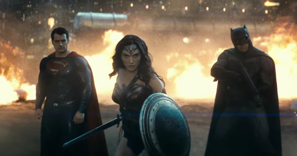 "Henry Cavill, Gal Gadot, and Ben Affleck in ""Batman v Superman: Dawn of Justice"""