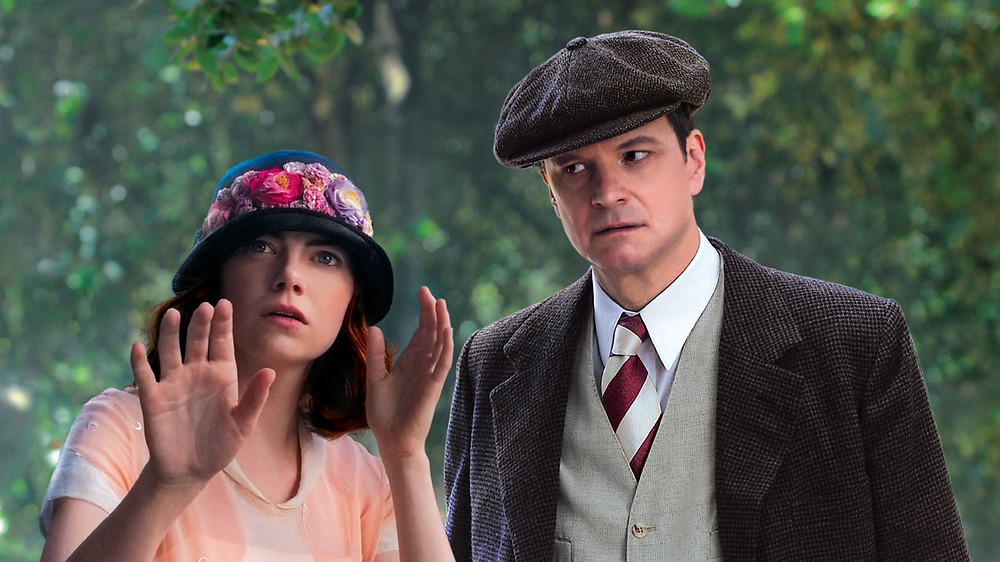 """Emma Stone and Colin Firth in """"Magic in the Moonlight"""""""