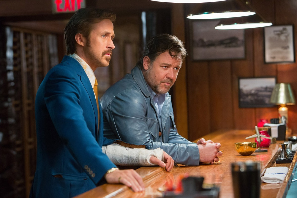 "Ryan Gosling and Russell Crowe in ""The Nice Guys"""