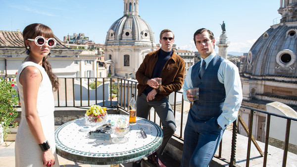 "Alicia Vikander, Armie Hammer, and Henry Cavill in ""The Man from U.N.C.L.E."""