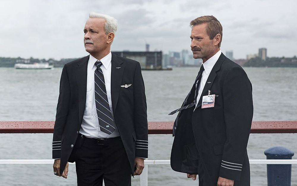 "Tom Hanks and Aaron Eckhart in ""Sully"""