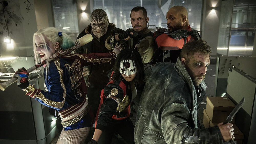 "The members of Task Force X in ""Suicide Squad"""