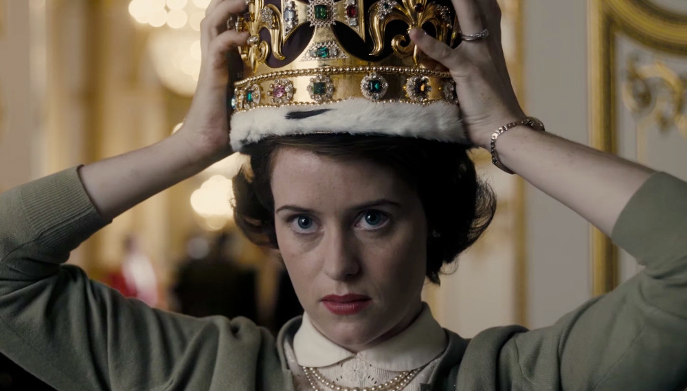 "Claire Foy as Queen Elizabeth II in ""The Crown"""