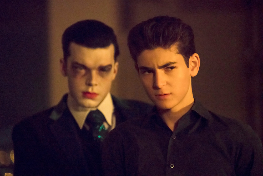 "Jeremiah (Cameron Monaghan) and Bruce Wayne (David Mazouz) in ""Gotham"""