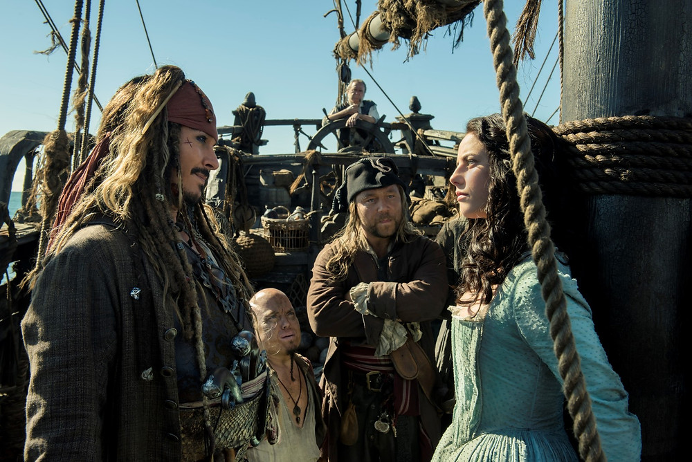 "Johnny Depp and Kaya Scodelario in ""Pirates of the Caribbean: Dead Men Tell No Tales"""